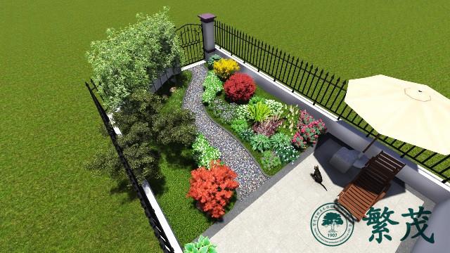 苏州胥口镇某小区庭院景观绿化设计及施工案例