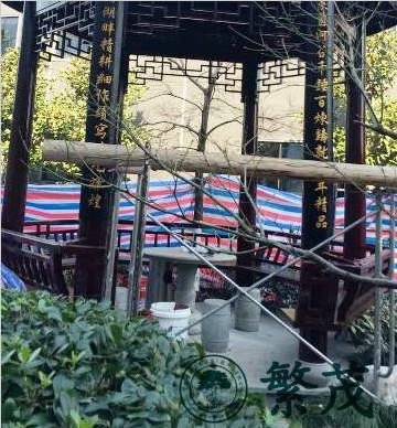 苏州工业园区某企业仿古六角亭修缮工程案例